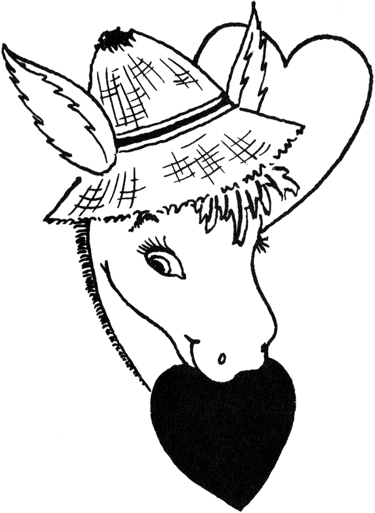 Vintage Donkey Valentine