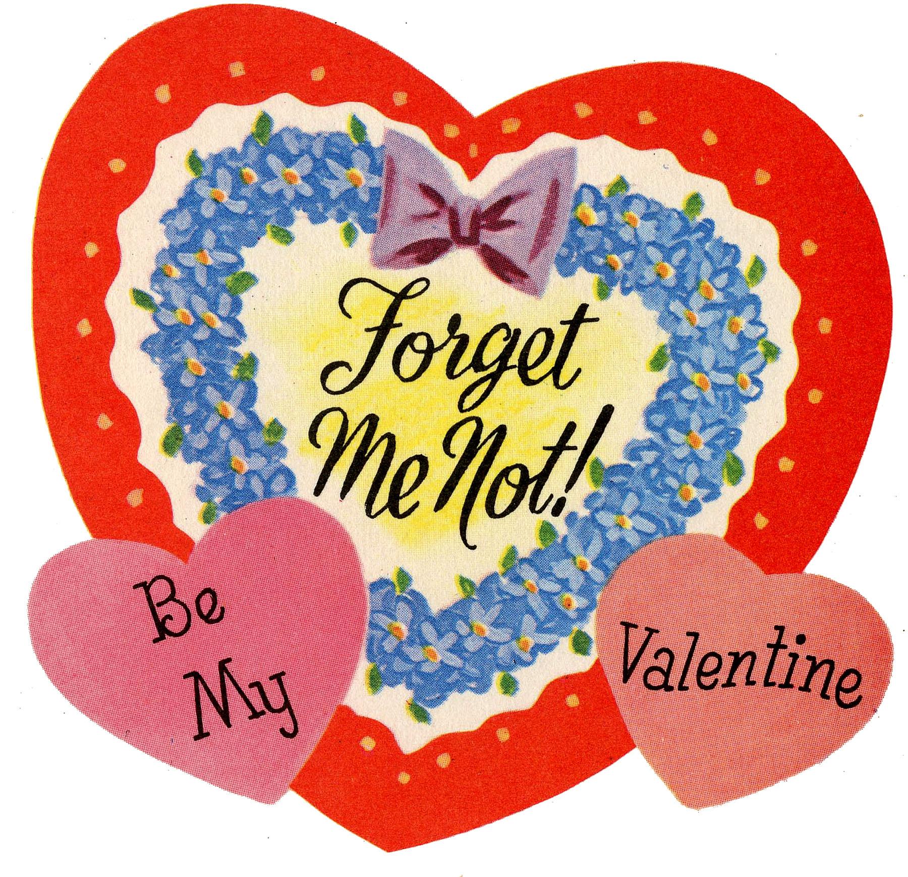 Vintage Forget Me Not Valentine!
