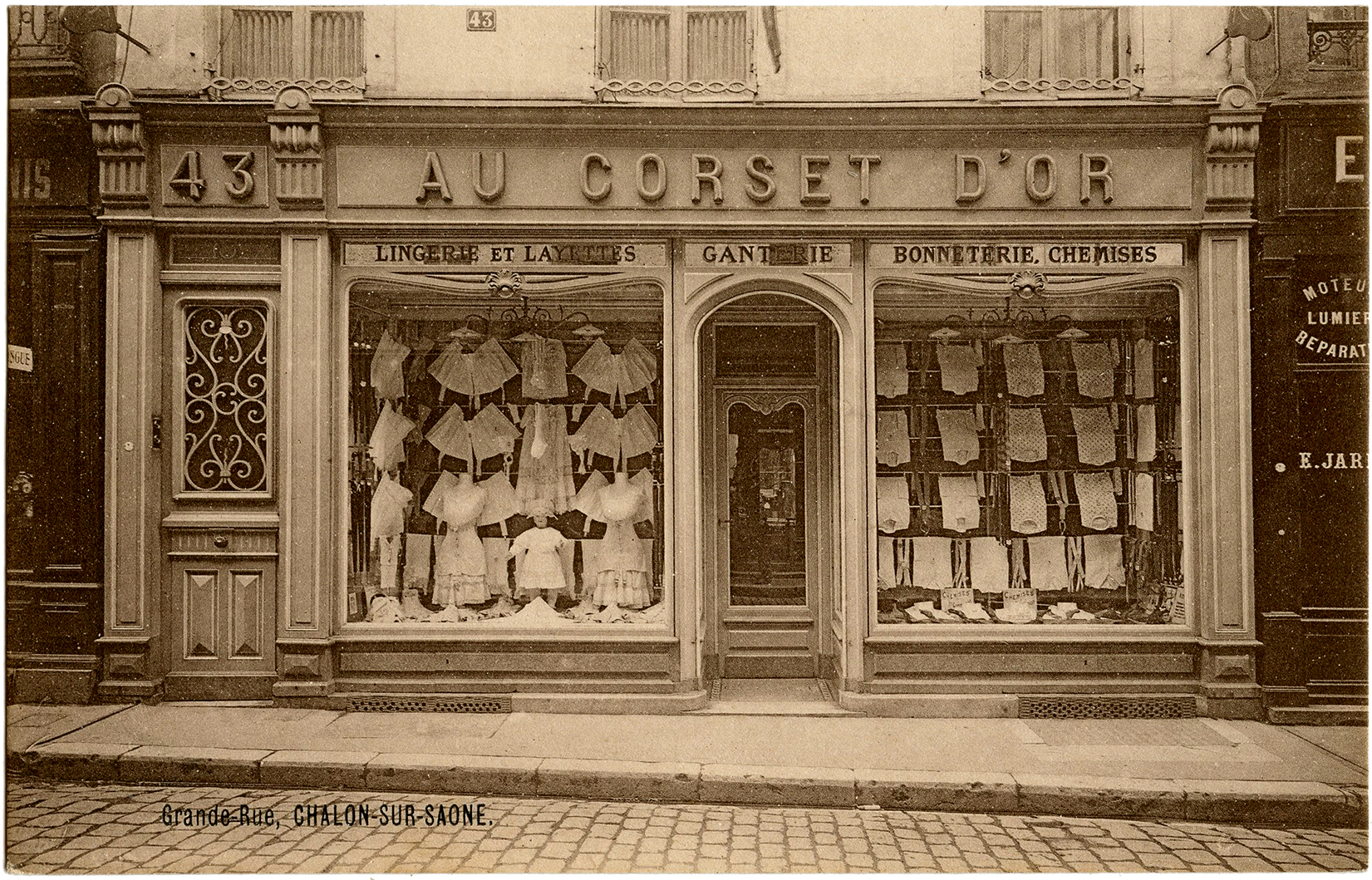 Fantastic Vintage French Corset Store Photo The