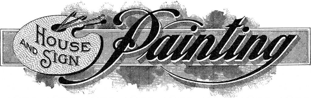 Vintage Painting Trade Sign Image