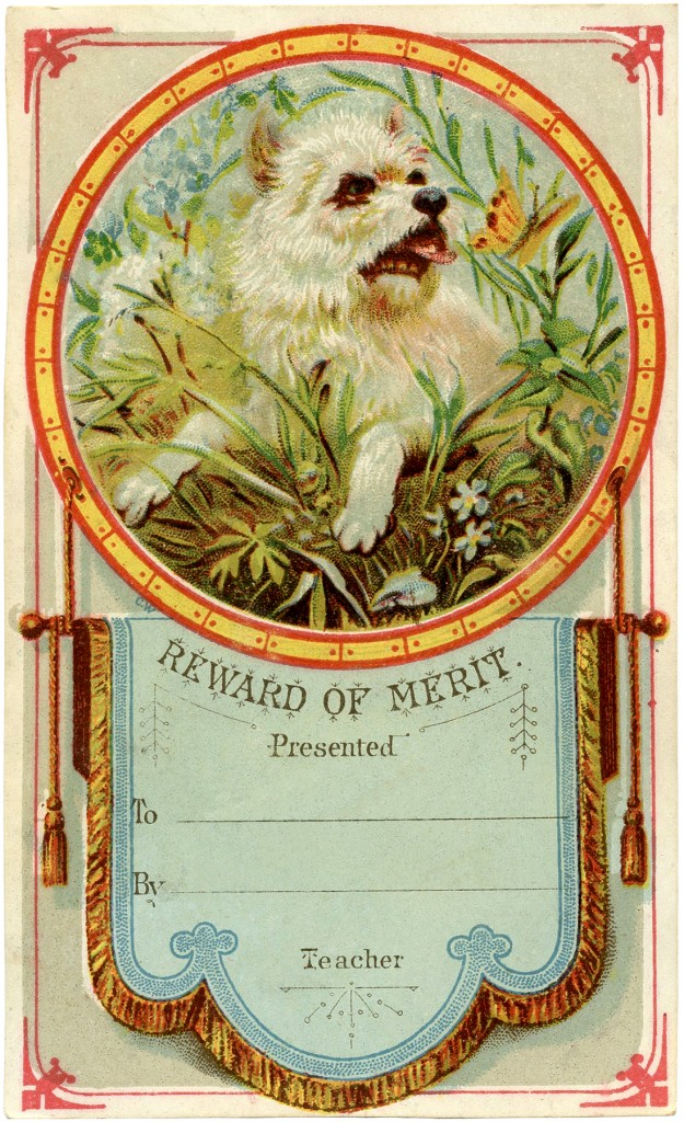 Vintage Reward of Merit Card