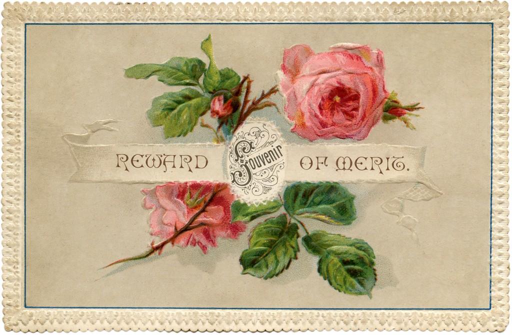 Vintage Shabby Roses Card