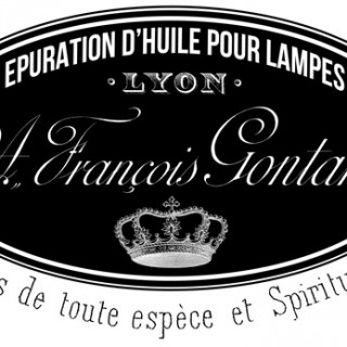 French Lamp Oil Transfer Printable