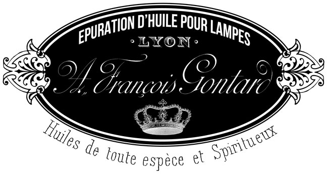 French Lamp Oil Transfter Printable  // The Graphics Fairy