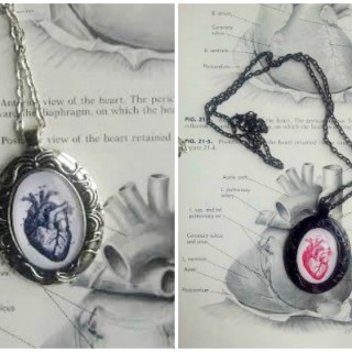 Handmade Anatomical Heart Cameo Necklaces – Reader Feature