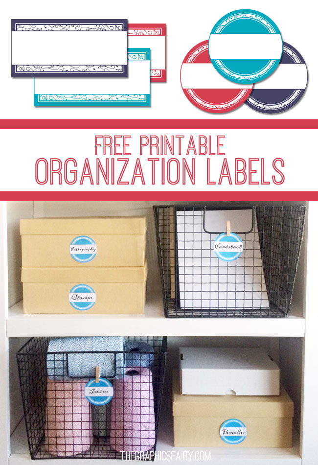 Printable Storage Labels  //  The Graphics Fairy