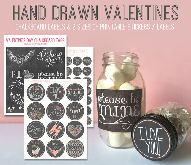 Valentine Printable Chalkboard Labels