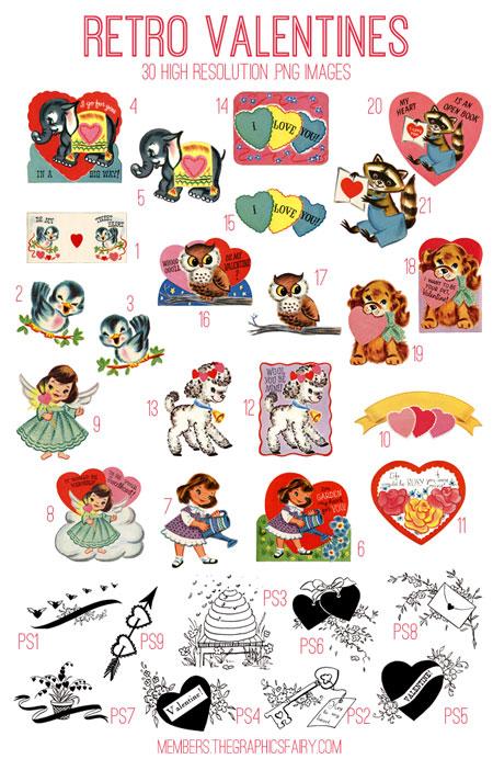 Retro Valentines Kit