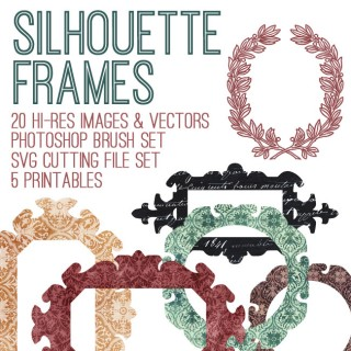 Gorgeous Silhouette Frames Kit – SVG Cut Files! TGF Premium