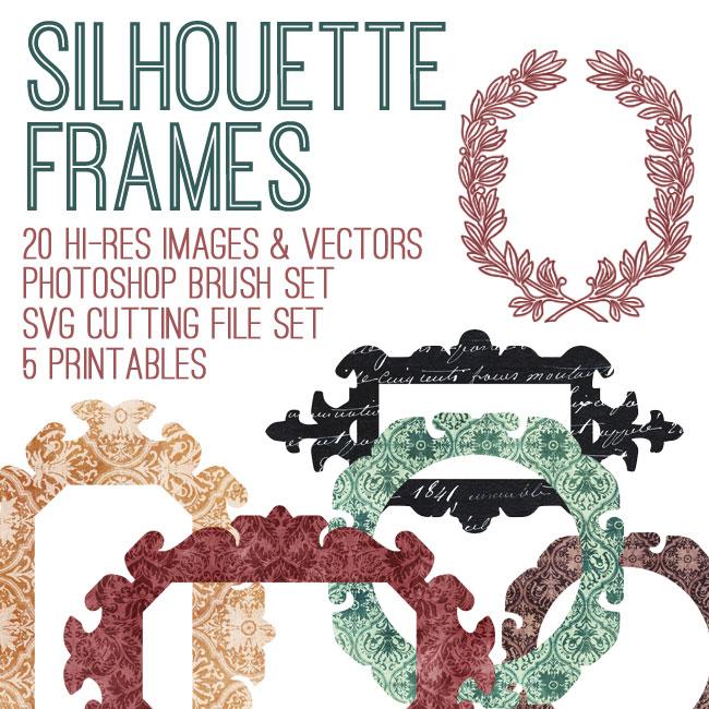 Gorgeous Silhouette Frames Kit - SVG Cut Files! TGF Premium - The ...