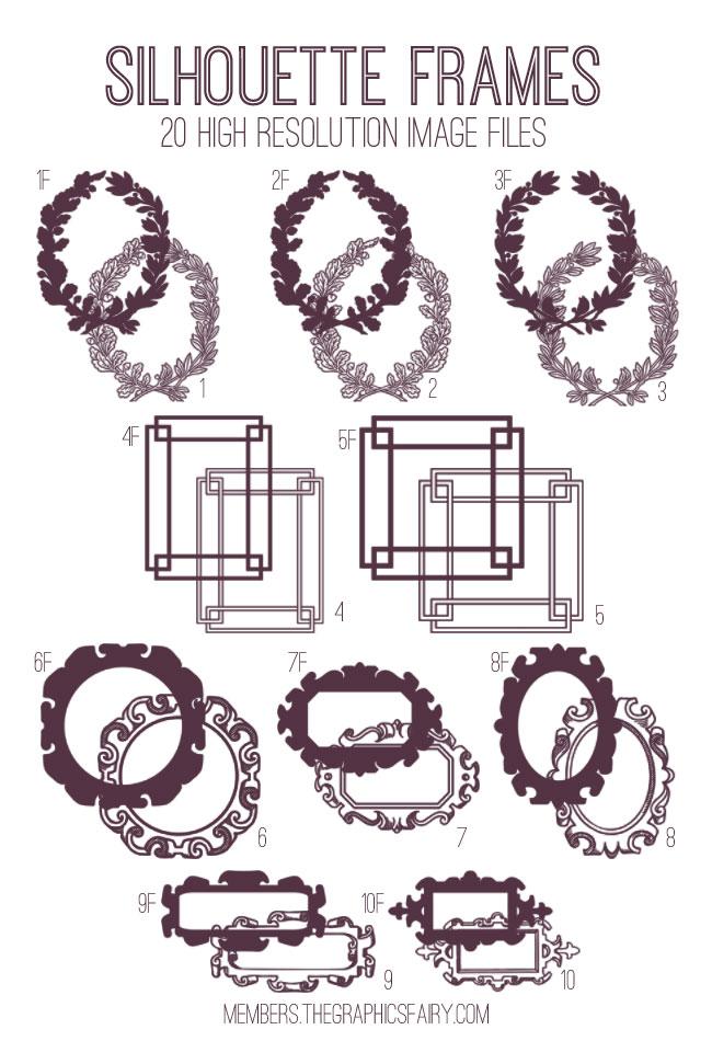 Silhouette Frames Kit
