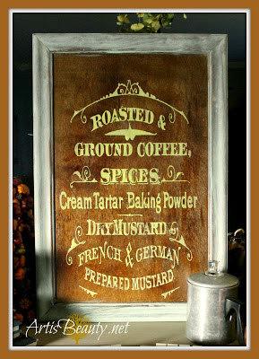 02 - Art is Beauty - Coffee and Spice Sign
