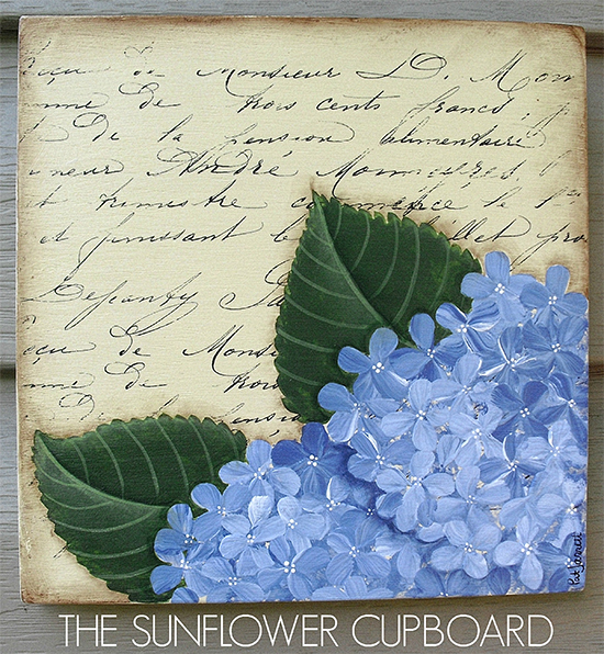 08 - French Hydrangea Sign