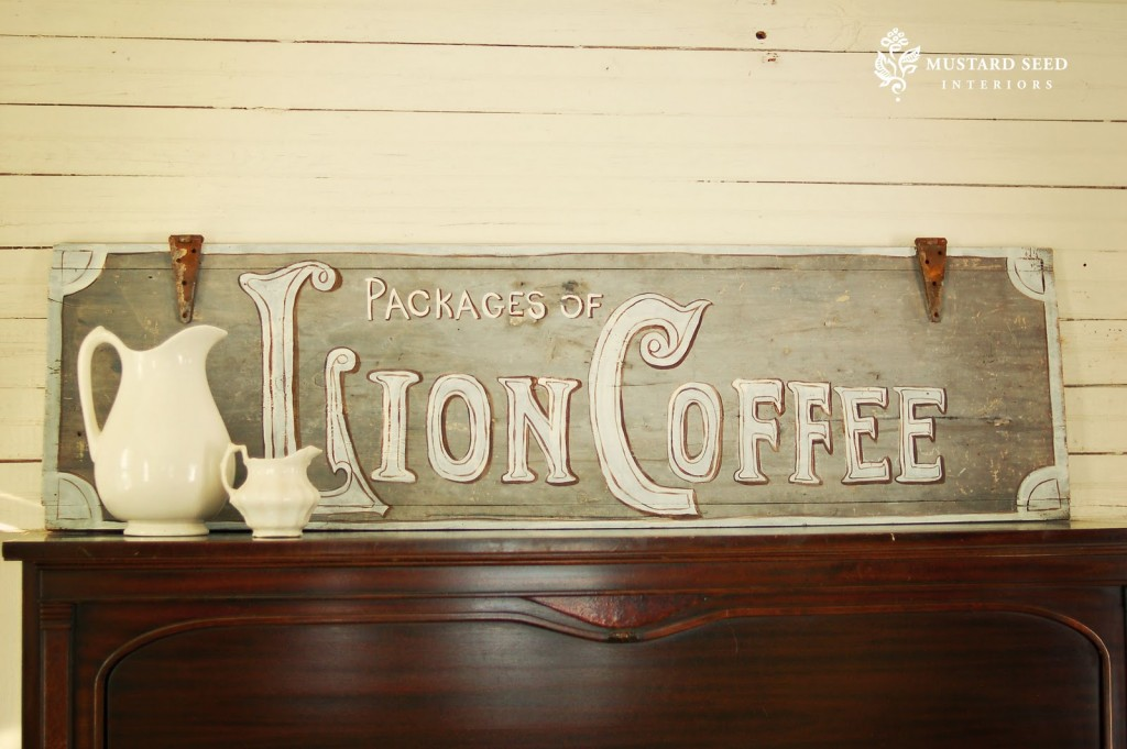 09 - Miss Mustard Seed - Lion Coffee Sign