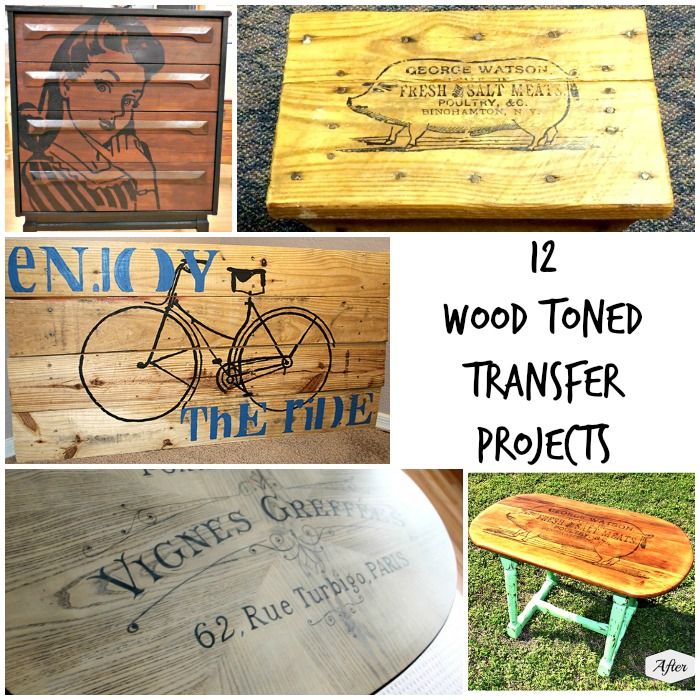 12 DIY Wood Toned Transfer Projects
