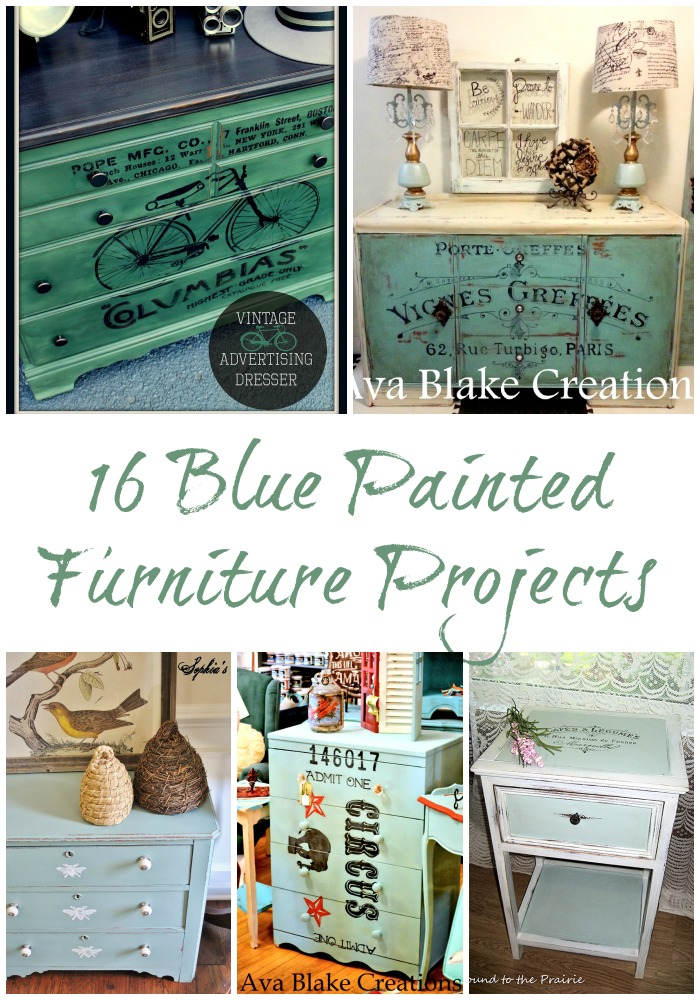 16 Blue Painted Furniture Projects