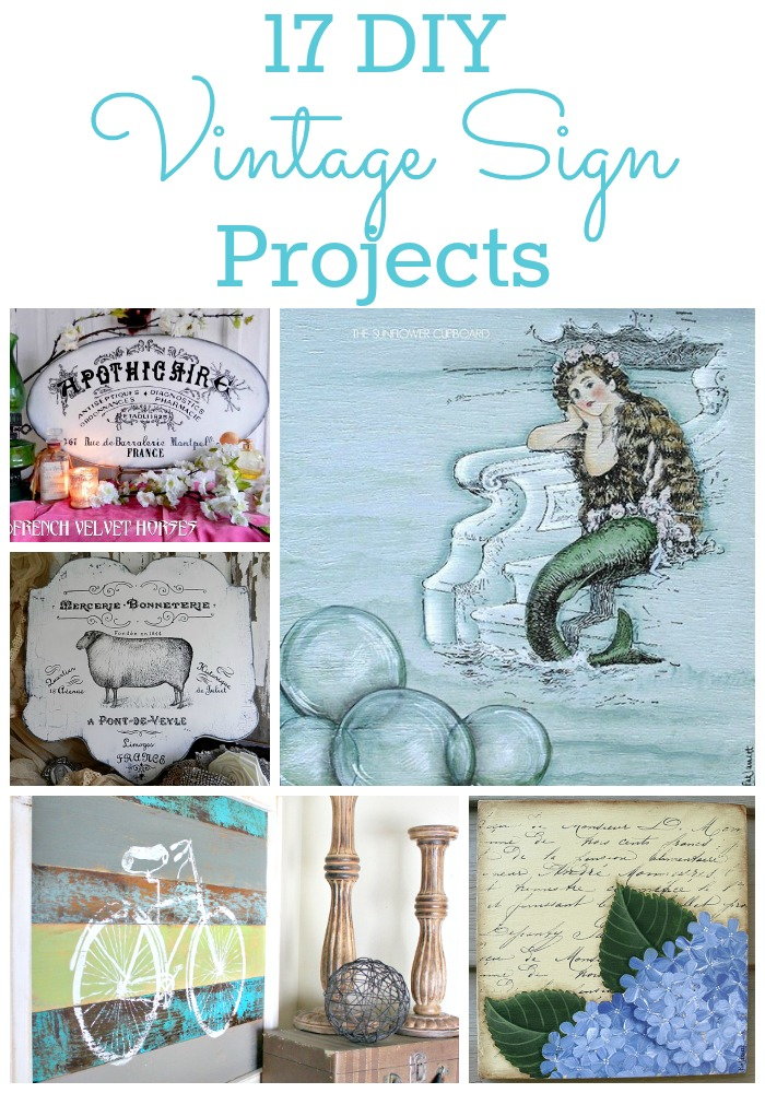 17 Diy Vintage Sign Ideas The Graphics Fairy