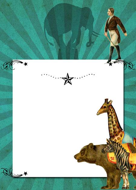 Circus Theme Party Invite Printable  //  The Graphics Fairy