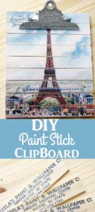 DIY Paint Stick Clipboard