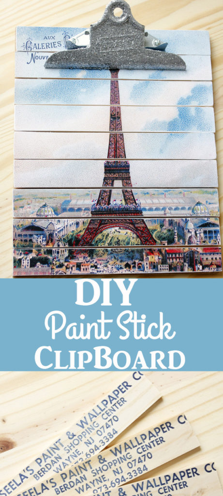 DIY Paint Stick Clipboard