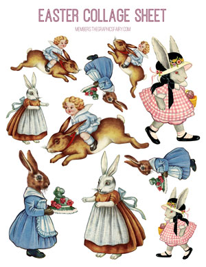 Easter_bunny_collage_sheet_graphicsfairy