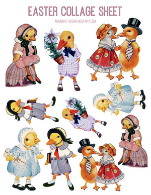 Easter_ducks_collage_sheet_graphicsfairy