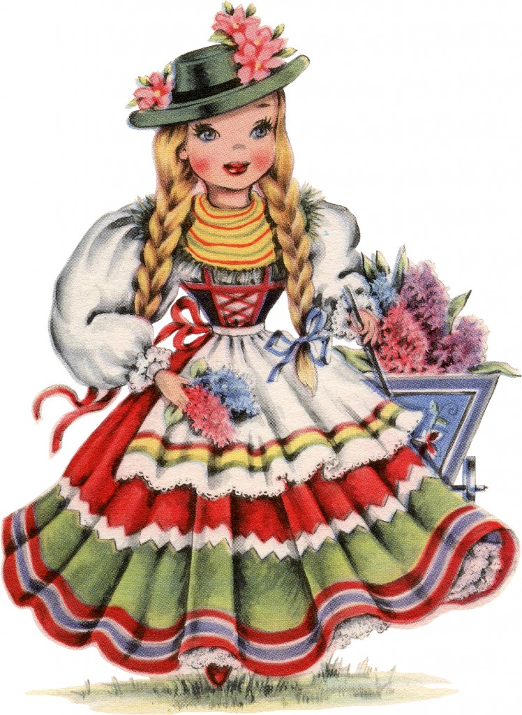 Retro German Doll Image