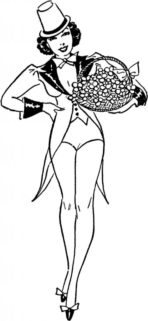 St Patricks Day Lady Image