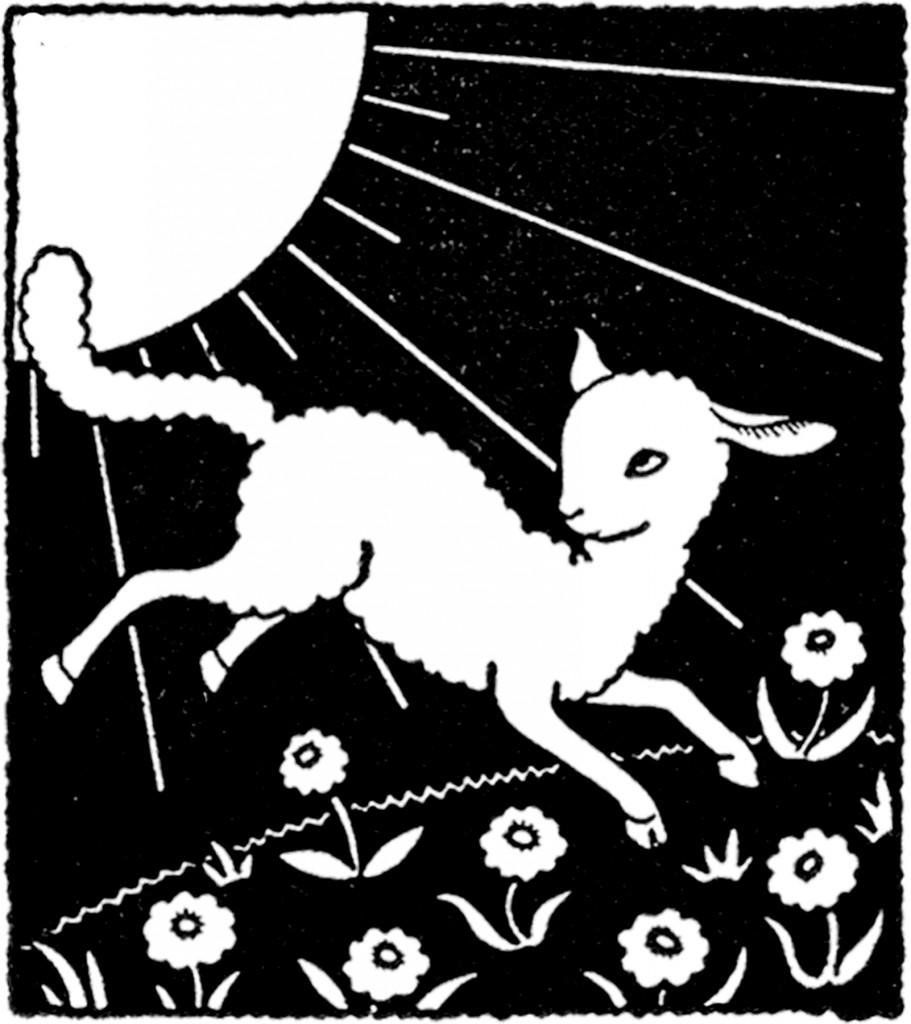 Vintage March Lamb Image