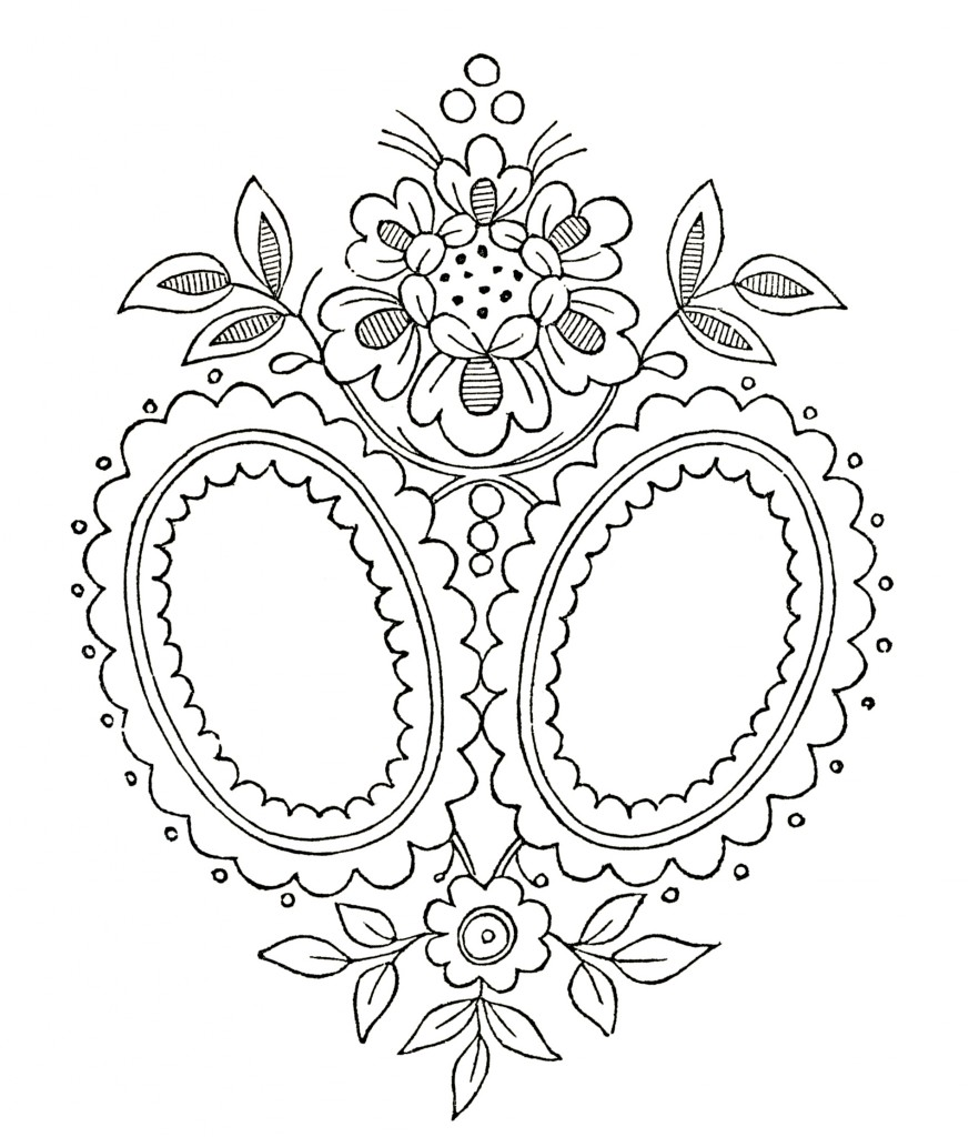 vintage monogram embroidery pattern