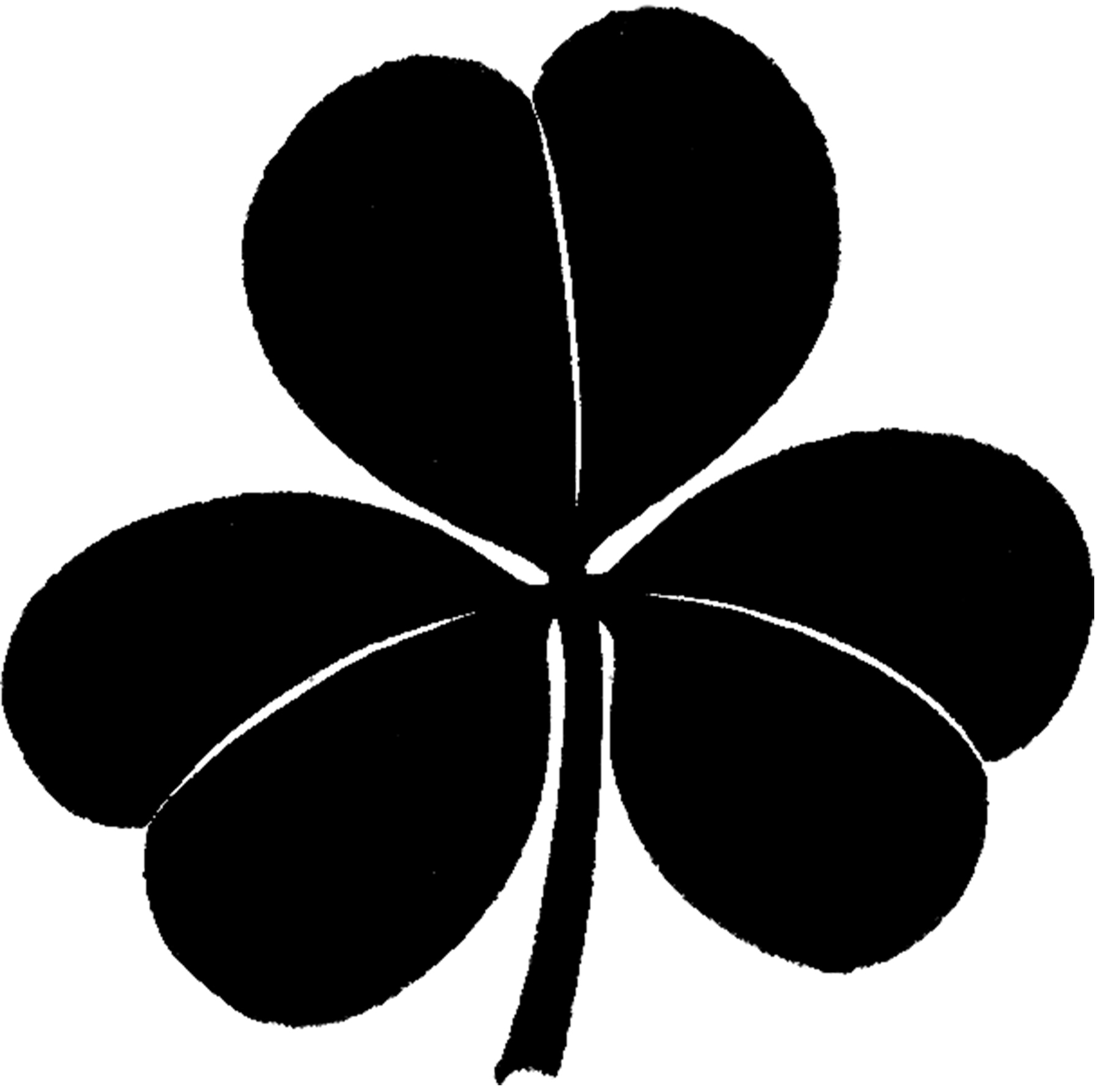 Shamrock silhouette. Clover images the