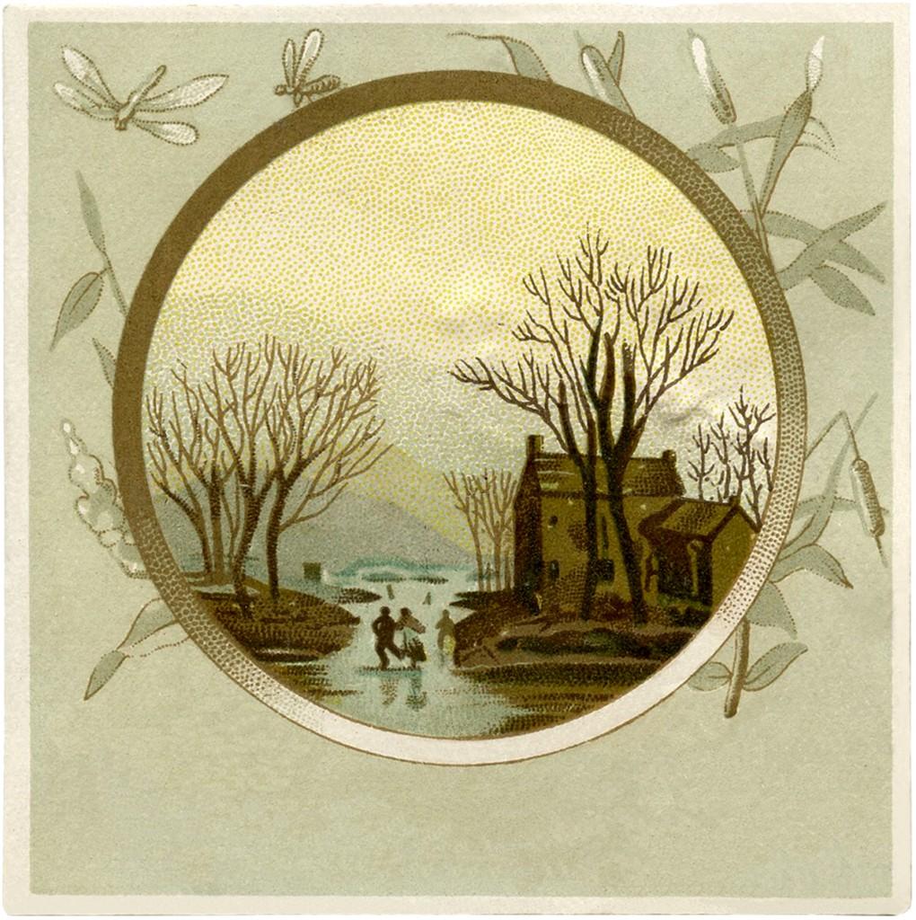 Vintage Winter Landscape Image