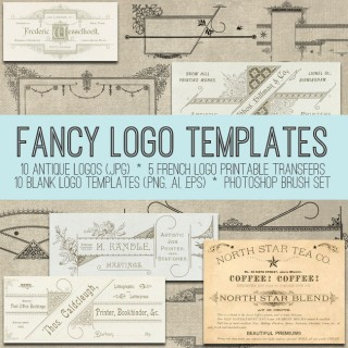 Gorgeous Fancy Logo Templates! Graphics Fairy Premium