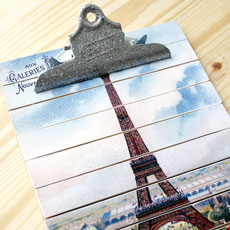 DIY Paint Stick Project – Paris Clipboard!