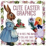 Adorable Easter Graphics Kit