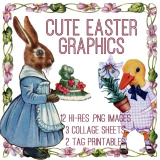 Adorable Easter Graphics Kit! Graphics Fairy Premium
