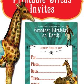 Circus Theme Party Invite Printable!