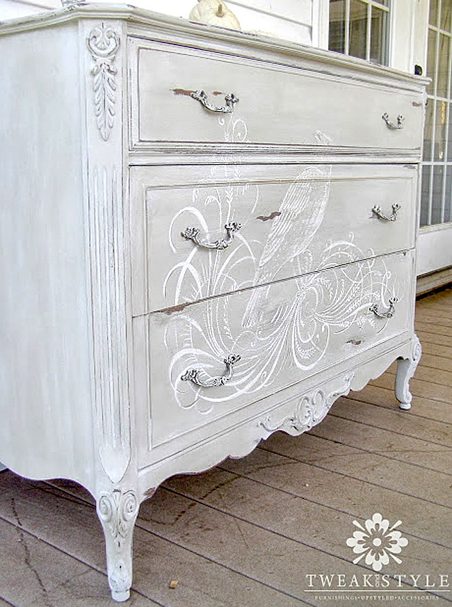 01 - Tweak and Style - Hand Painted Dresser