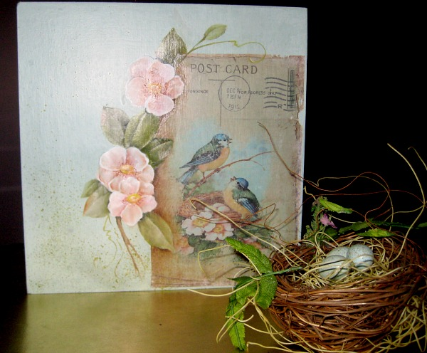 03 - A Rose in the Winter - Easter Postcard Art