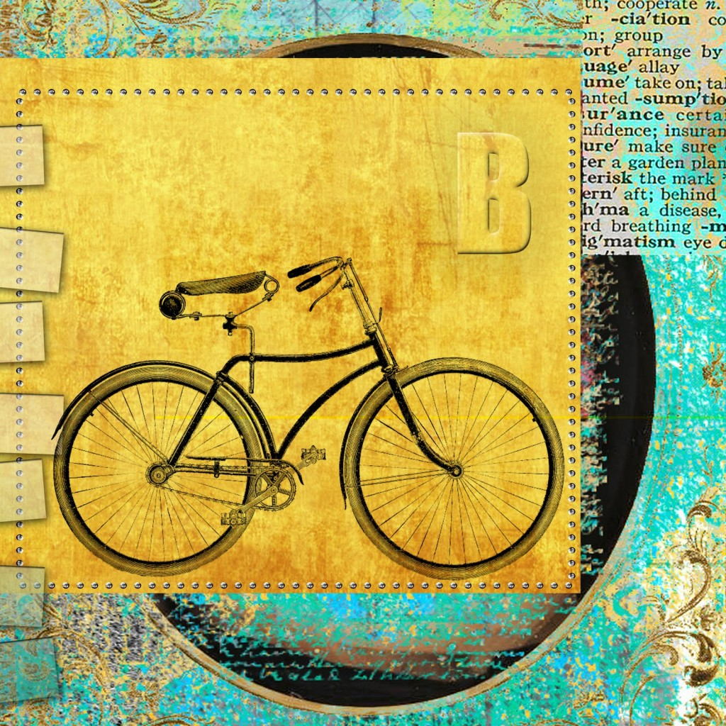 03 - Aussie Kate - Bicycle Scrapbook Art