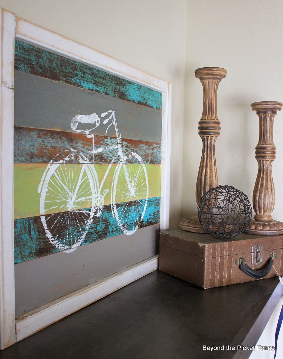Perfect  Beyond the Picket Fence Bicycle Art