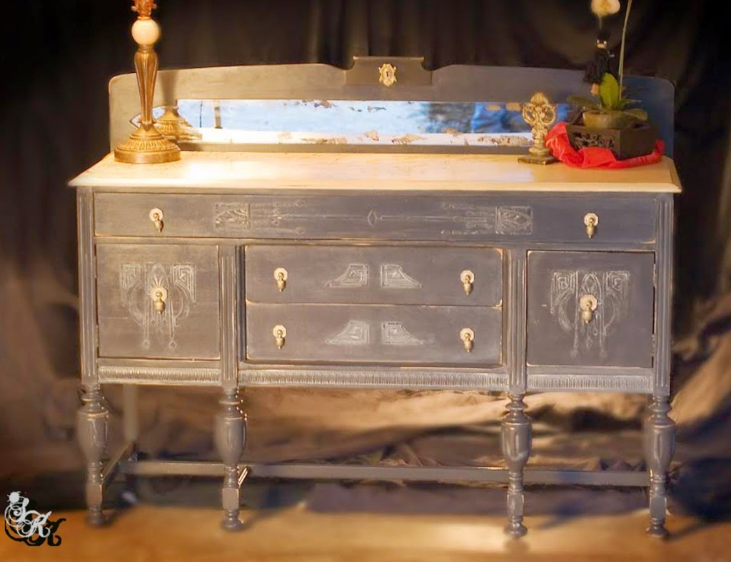 7 painted gray furniture diy projects the graphics fairy for Painted buffet sideboard