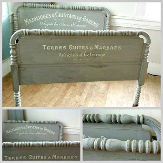 06 - Vintage Songbird - French Painted Bed