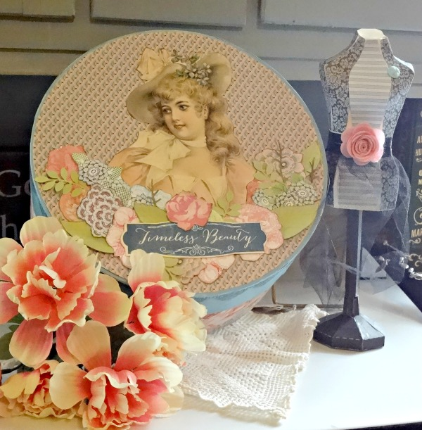 08 - Create with Kat - Easter Themed Vintage Hat Box