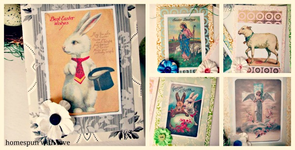 10 - Home Spun with Love - Vintage Easter Cards