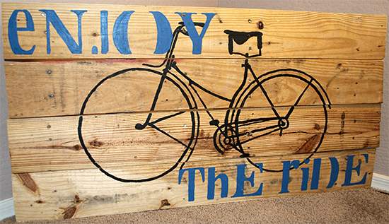 10 - See Shells Space - Bicycle Pallet Art
