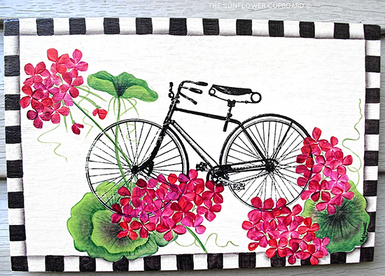 Simple  The Sunflower Cupboard Bicycle Wall Art