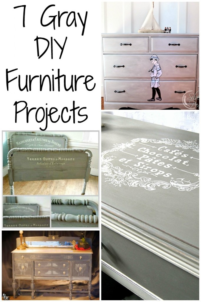 7 Painted Gray Furniture DIY Projects The Graphics Fairy