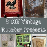 9 DIY Vintage Rooster Projects