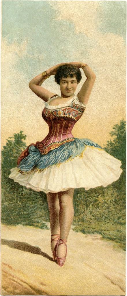 Antique Ballerina Picture Image